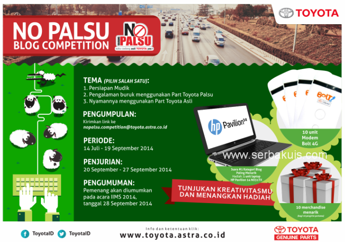 Kontes Blog No Palsu Berhadiah Netbook HP Pavilion