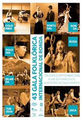 43 GALA FOLKLÓRICA INTERNACIONAL - Feria de Pedro Romero - Ronda 2016