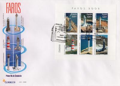Sobre PDC de la Hoja Bloque de la serie Faros de 2008