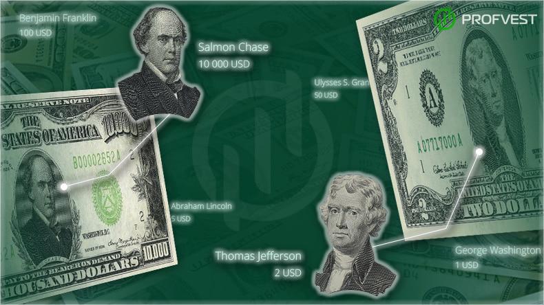 Купюры долларов США: номиналы банкнот и президенты