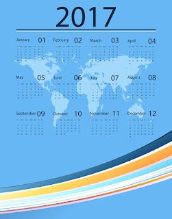2017カレンダー無料テンプレート208