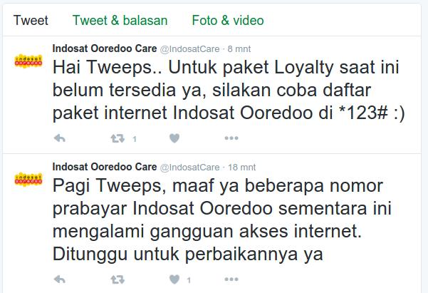 Paket Kuota Bulanan Loyalty Indosat