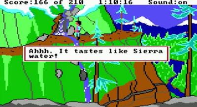 Huevo de Pascua King's Quest III - Cascada