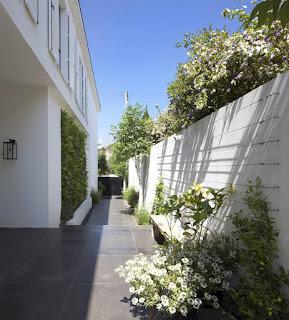 White Modern Green Family House
