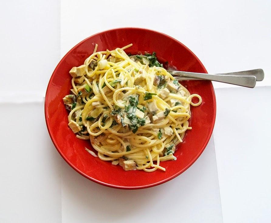 vegana Spaghetti Carbonara - Hauptspeise