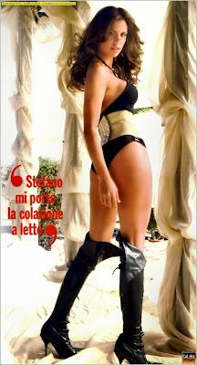 Claudia Galanti in magazine cover