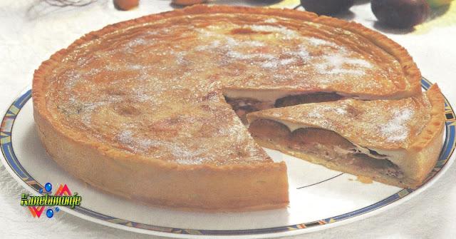 Pastel de Manzana y Ciruelas