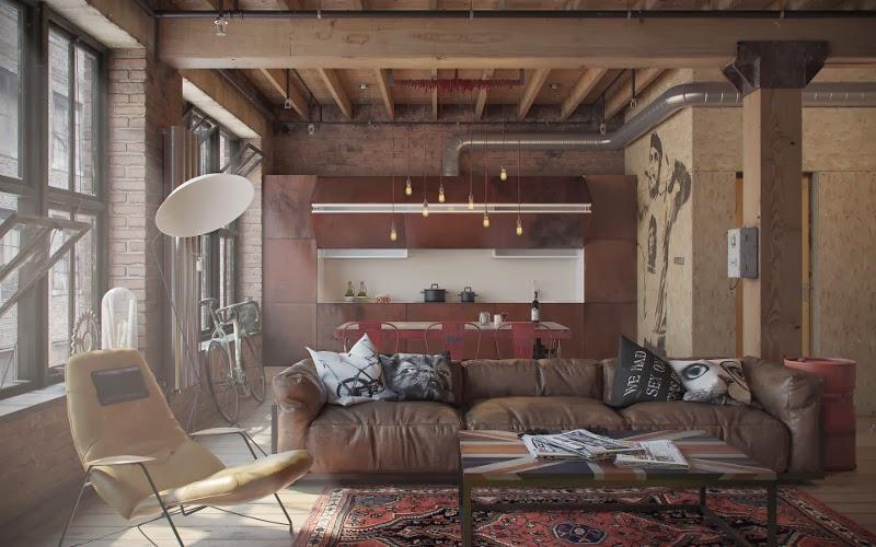 20metriquadri loft stile industriale for Arredamento stile industriale loft