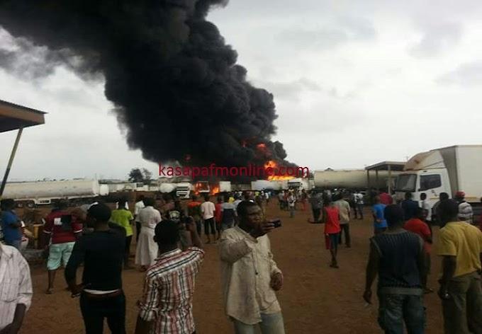 Fire Outbreak: 7 feared dead, 4 cars totally burnt in Ashiaman