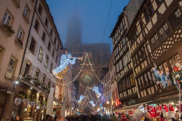 Estrasburgo Alsacia Navidad Francia