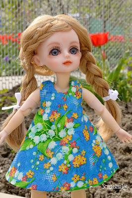 сарафан для куклы, паола рейна, paola reina, маленькая звездочка ооак