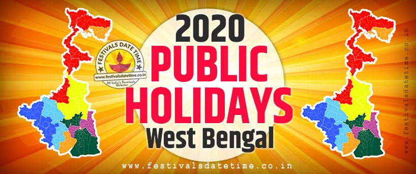 2020 National and Regional Holidays of West Bengal