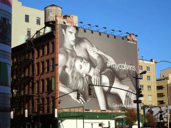Giant My Calvins billboard New York