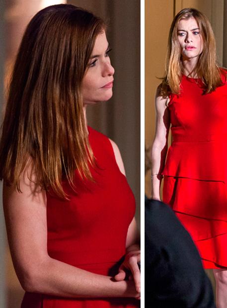 Livia (Aline Moraes) vestido vermelho, Além do Tempo