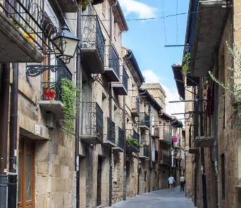 El casco antiguo de Laguardia, País Vasco