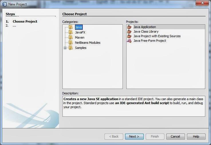 Membuat Project Aplikasi Java Baru