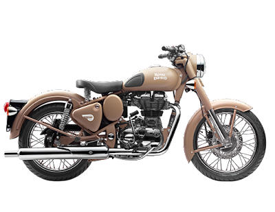 Royal Enfield Classic 500 Desert Storm cruiser side view 00
