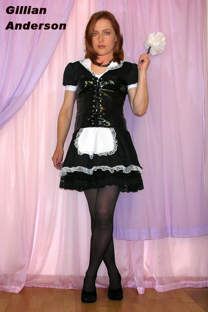 Celebrity Transvestite Fakes Gillian Anderson