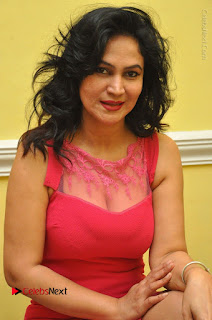 Telugu Actress Vijaya Murthy Stills in Red Short Dress at Www.Meena Bazaar Movie Opening  0036.JPG