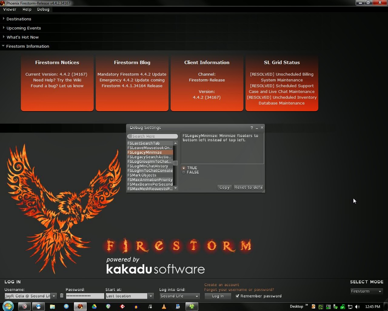 The Virtual World Technologist: SecondLife : FireStorm 4 4 2