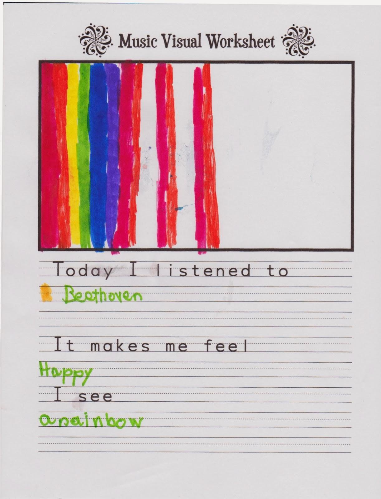 Mindful Music Worksheet Amp Download