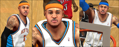 NBA 2K14 Carmelo Anthony Cyberface Patch