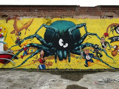 L'araignee au plafond - CNN199 - Fresque murale