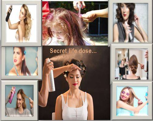 To set hair and  know the correct use of hairspray- secretlifedose