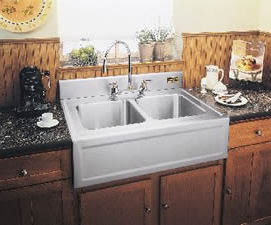 kitchen sinks with drainboard built in