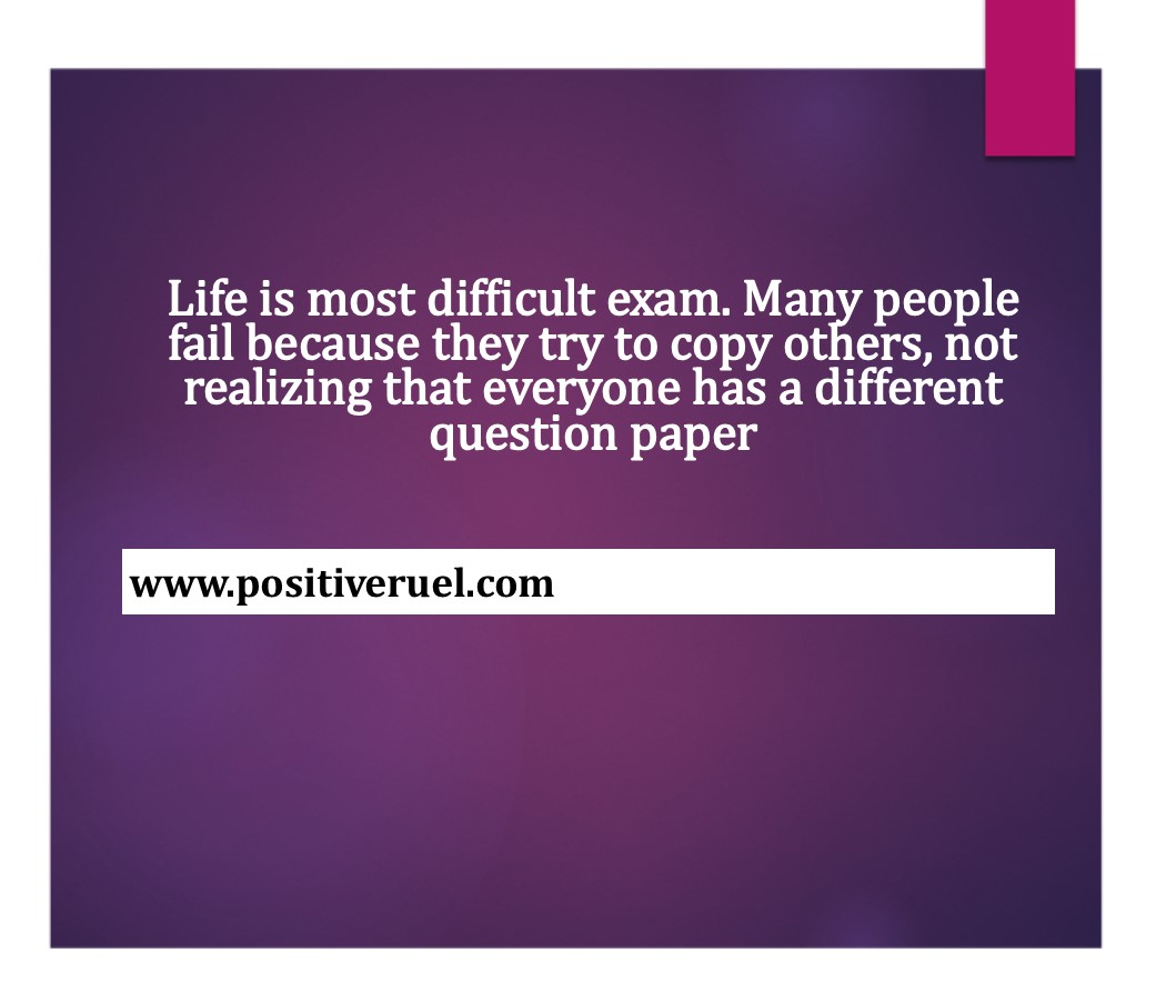Tagalog Hugot Love Quotes - Life is most difficult exam