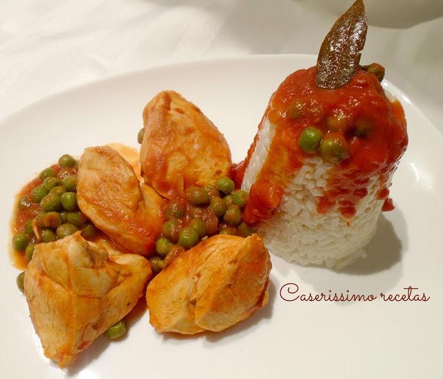 receta-de-supremas-en-salsa-con-timbal-de-arroz-light