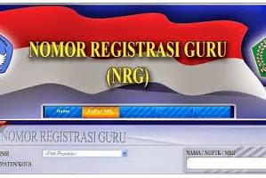 Berkas Sekolah : Aplikasi Cetak Kartu Nomor Registrasi Guru (NRG) Format Excel