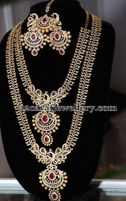 Gold Plated Grand Wedding Jewelry Jewellery Designs