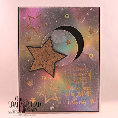 Our Daily Bread Designs Stamp Set: Superstar, Custom Dies: Pierced Rectangles, Pierced Circles, Sparkling Stars