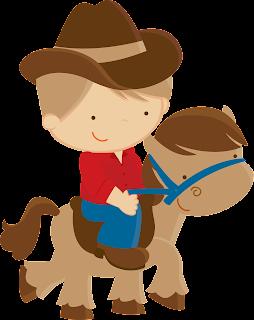Clipart Vaquero de Fiesta con Pony.
