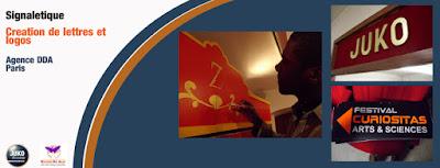 Lettres adhésives, plottage, lettre en bois, signalétique, ismail et julien, ismail konate, julien kozlowski, conception, design, scène, citoyenneté, menuiserie, agence donner des ailes, dda, agence dda, juko access, juko concept,