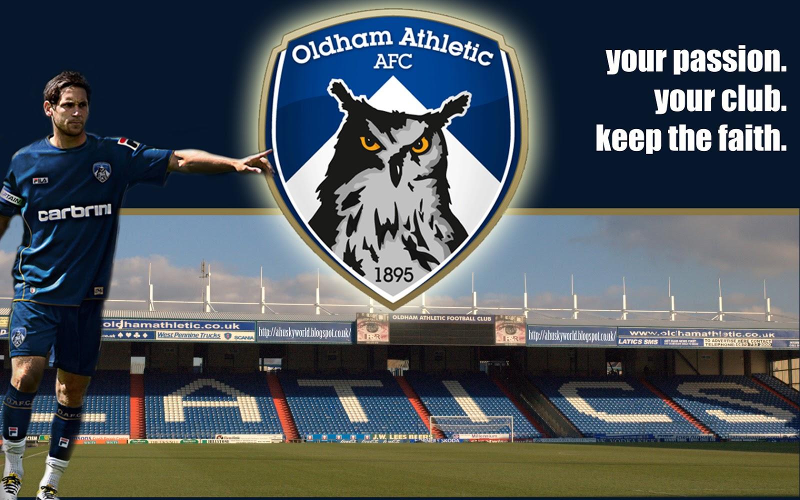 A Husky World: Oldham Athletic Desktop Wallpaper