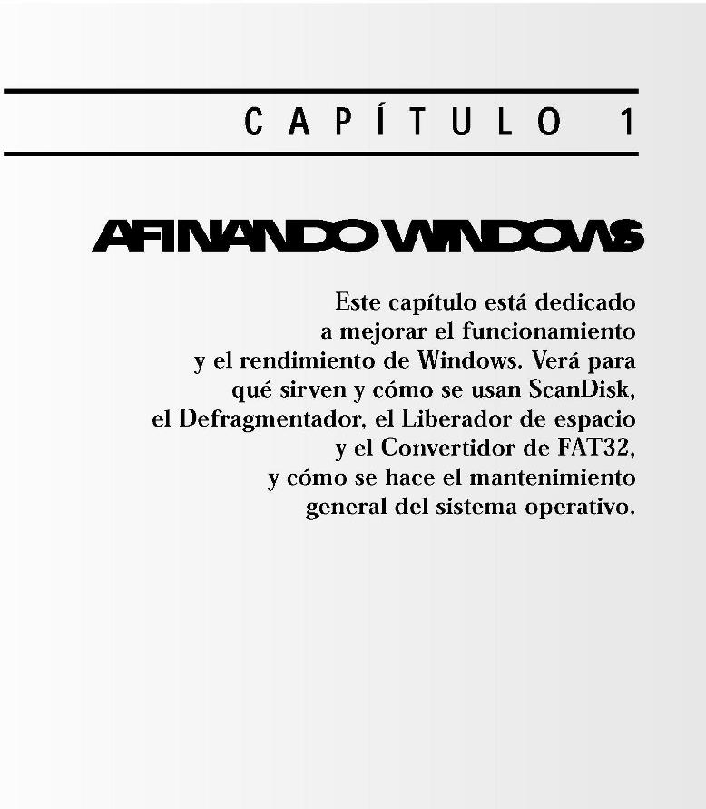 Afinando Windows