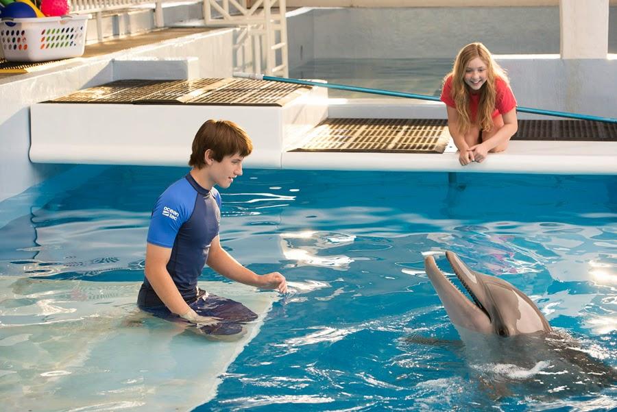 Cozi Zuehlsdorff, Nathan Gamble şi delfinul Winter în Dolphin Tale 2