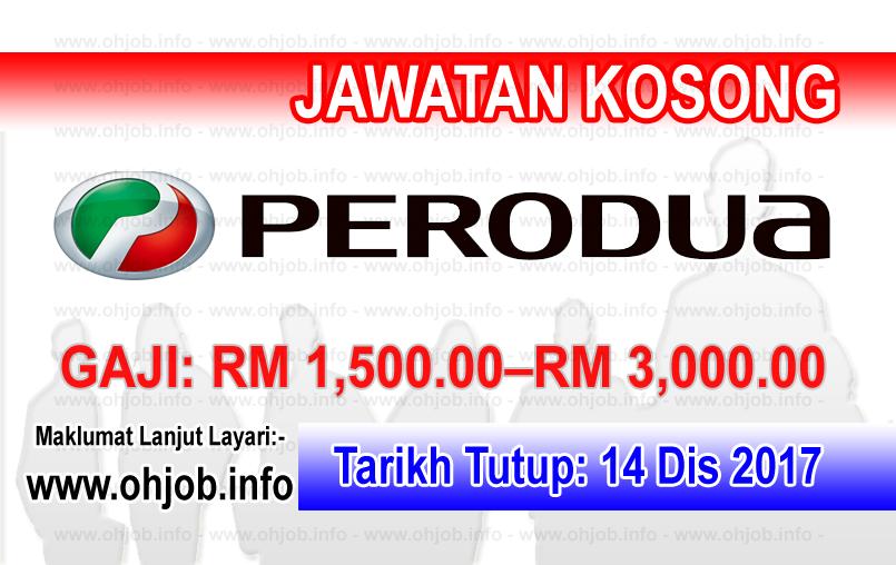 Jawatan Kerja Kosong Perodua Manufacturing logo www.ohjob.info disember 2017