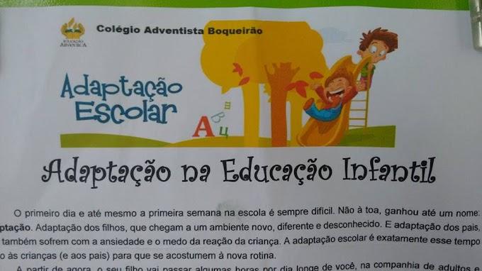 Adaptação na Educação Infantil.
