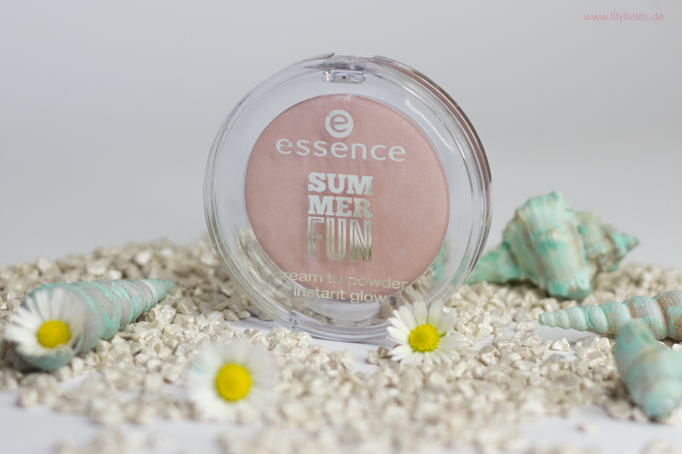 Foto zeigt Essence cream to powder instant glow - 01  walking  on  sunshine