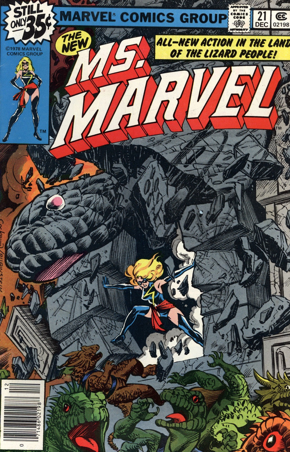 Marvel Comics of the 1980s: 1979 - Anatomy of a Cover - Ms. Marvel ...