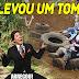 (VIDEO) ☆Trilha de Moto - Trilha com muitos tombos , A moto se vingou do Trilheiro, Queimou a largada kkk