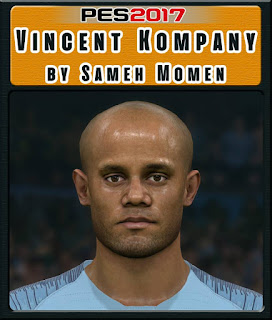 PES 2017 Faces Vincent Kompany by Sameh Momen