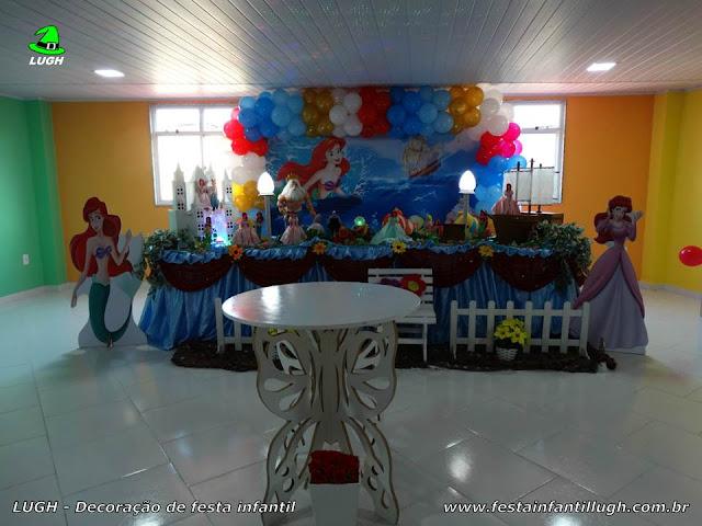 Decoração Ariel - A Pequena Sereia - Mesa decorada para aniversário infantil