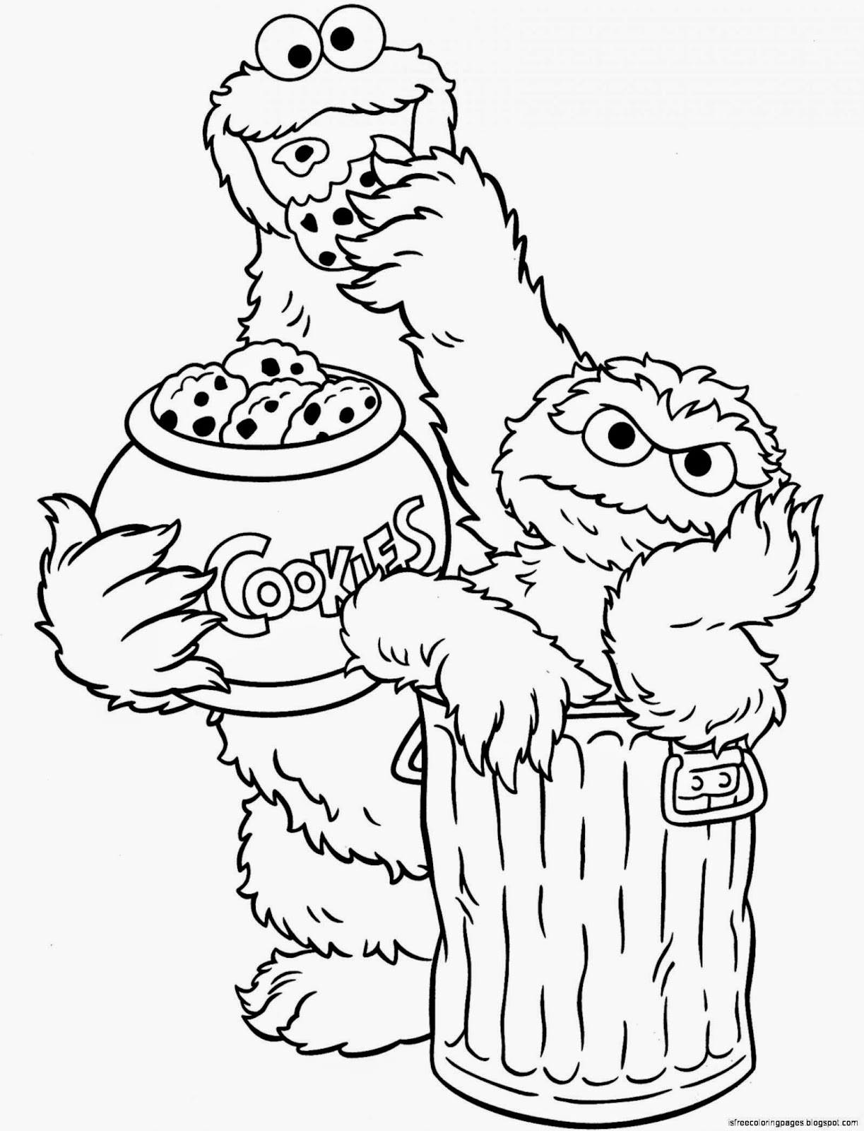 Sesame street coloring pages free coloring pages for Elmo and cookie monster coloring pages to print