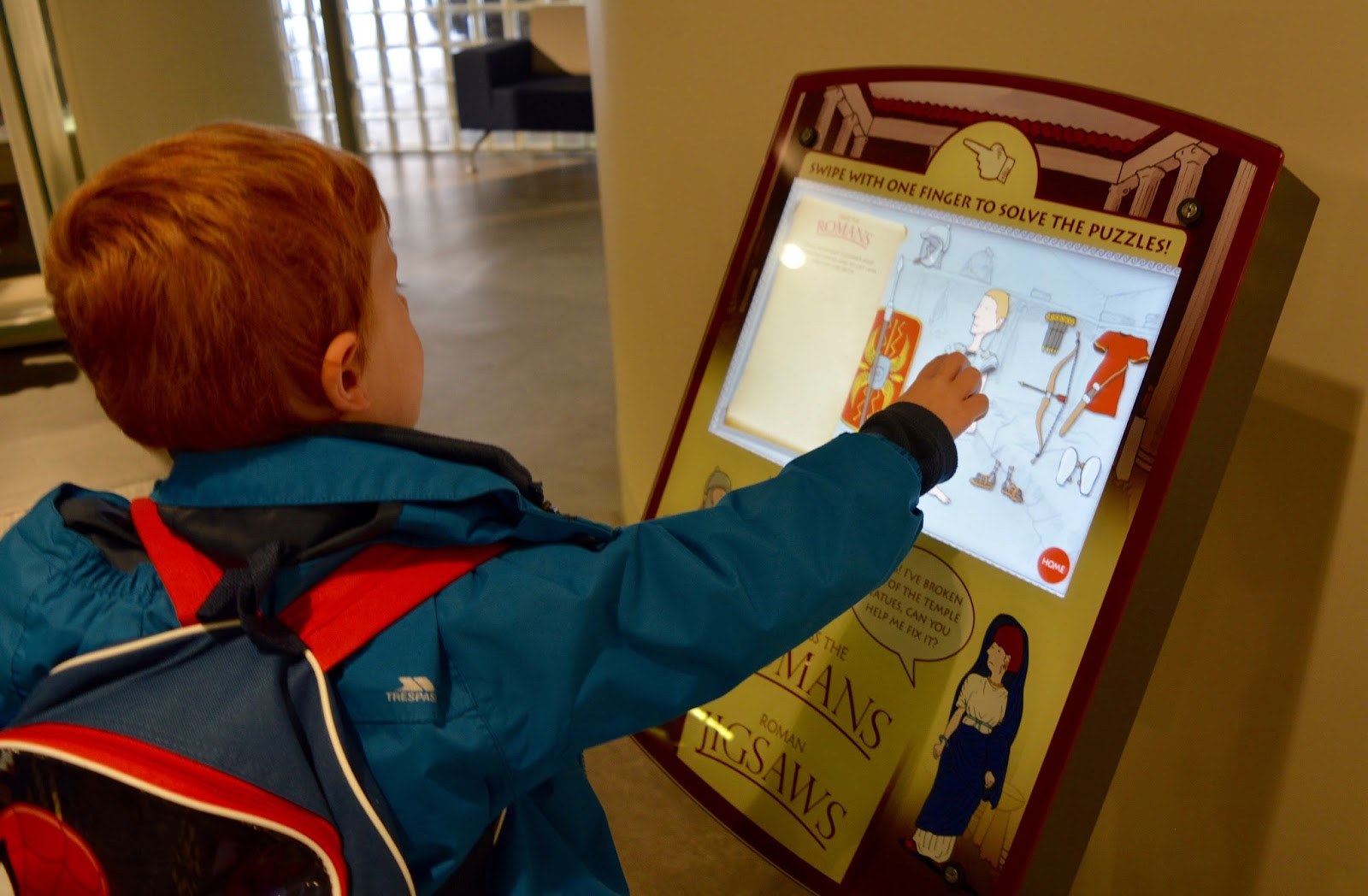Great Days Out with Northern  | Our Day Trip to Carlisle by Train - Electronic Roman dress up game at Tullie museum
