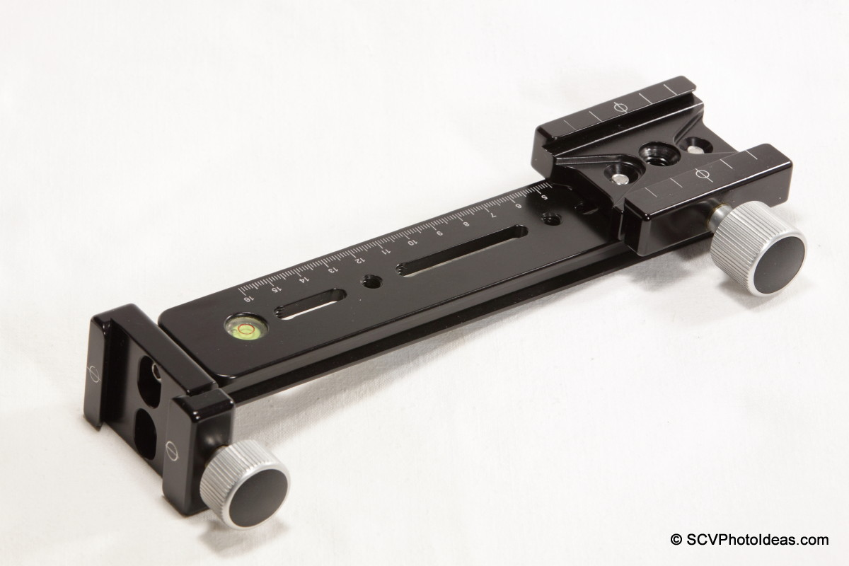 Hejnar Photo G13-80 rail w/ F69 & F62 QR clamps - full view