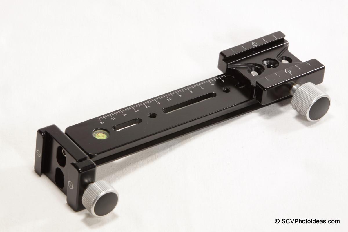 Hejnar Photo G13-80 rail w/ F69 & F62 QR clamps - full view
